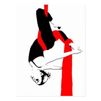 Carte Postale Pose aérienne de Gémeaux de danseur de soies