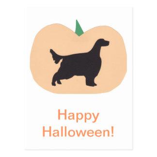 Carte Postale Poseur anglais de citrouille heureux de Halloween