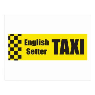 Carte Postale Poseur anglais de taxi