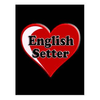 Carte Postale Poseur anglais sur le coeur pour des amoureux de