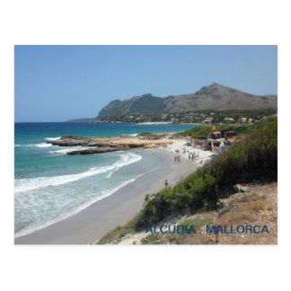 Carte Postale postale plage Alcudia, Mallorca, de Majorca.