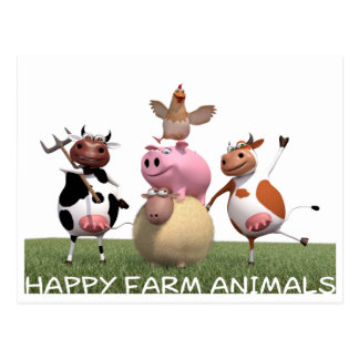 Carte Postale Postcard/carte de lettre HappyFarmAnimals - Isaak