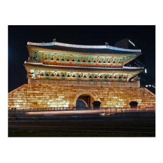 Carte Postale Postcard Seoul Namdaemun at night, South Korea