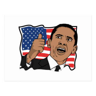 Carte Postale Pouces de Barack Obama