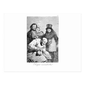 Carte Postale Pourquoi cachez-les ? par Francisco Goya