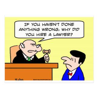 Carte Postale pourquoi juge d'avocat de location