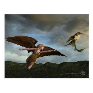 Carte Postale Poursuite à ailes