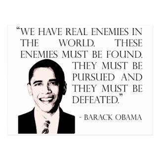 Carte Postale Poursuivez et défaites nos ennemis, Barack Obama