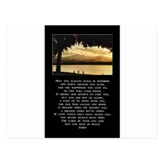 Carte Postale Pouvez vous toujours marcher dans la prière de