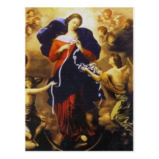 Carte Postale Prayer de pape Francis à notre Madame Untier des