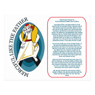 Carte Postale Prayer de pape Francis pour le jubilé