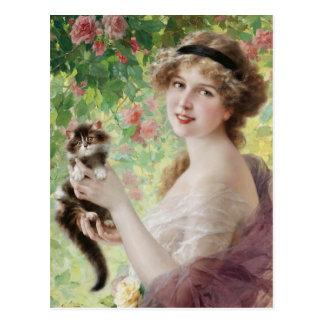 Carte postale précieuse de chaton d Emile Vernon