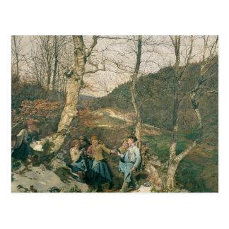Carte Postale Premier ressort dans les bois de Vienne
