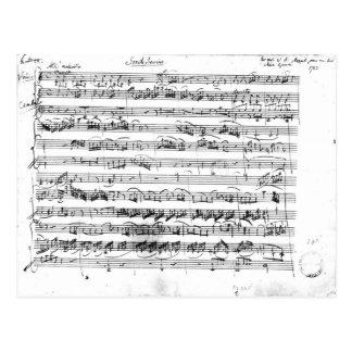 Carte Postale Première de Sonate pour le violon et le clavecin