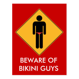 Carte Postale Prenez garde des types de bikini