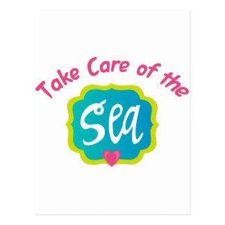 Carte Postale Prenez soin de la mer