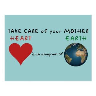 Carte Postale Prenez soin de votre Terre