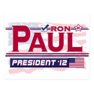 Carte Postale Président 2012 de Ron Paul