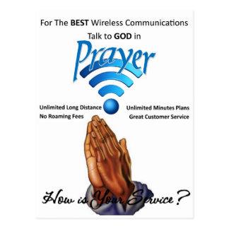 Carte Postale Prière : Communication sans fil