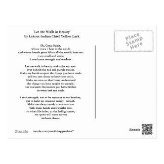 Carte Postale Prière de Lakota