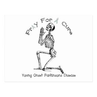 Carte Postale Priez pour la maladie d'un Traitement-Parkinson