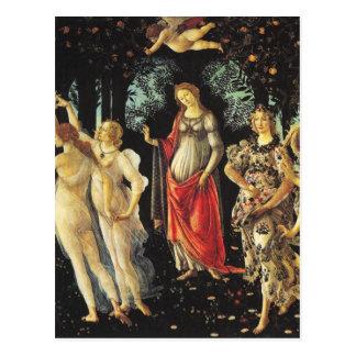 Carte Postale Primavera par Sandro Botticelli