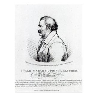 Carte Postale Prince Blucher de maréchal de champ de Wahlstadt