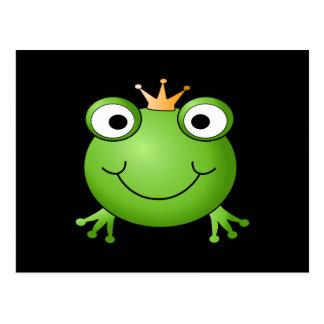 Carte Postale Prince de grenouille. Grenouille de sourire avec