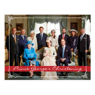 Carte Postale Prince George Christening