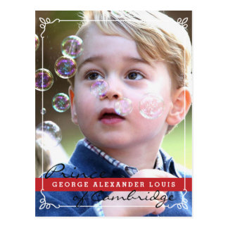 Carte Postale Prince George de Cambridge