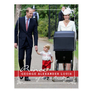 Carte Postale Prince George - princesse Charlotte - William Kate