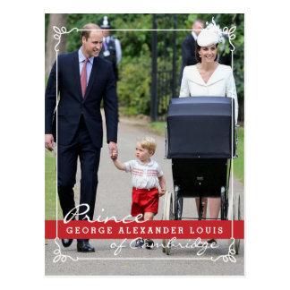 Carte Postale Prince George - princesse Charlotte - William Kate