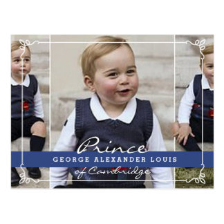 Carte Postale Prince George - William et Kate
