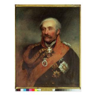 Carte Postale Prince Von Blucher c.1816 de maréchal de champ