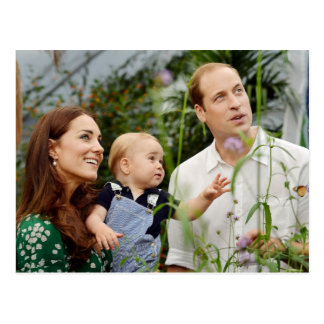 Carte Postale Prince William, duchesse Catherine et prince