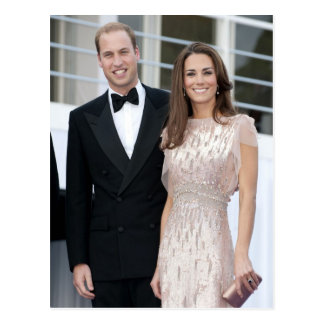 Carte Postale Prince William et duchesse de Catherine de