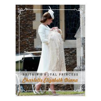 Carte Postale Princesse Charlotte Elizabeth Diana - baptême