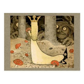 Carte Postale Princesse Daga et le troll CC0807 de John Bauer