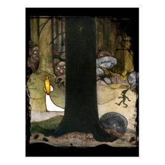 Carte Postale Princesse dans les bois