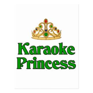 Carte Postale Princesse de karaoke