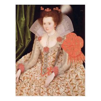 Carte Postale Princesse Elizabeth, fille de James I, 1612