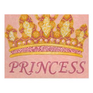 Carte Postale Princesse ornée de bijoux Crown par Chariklia