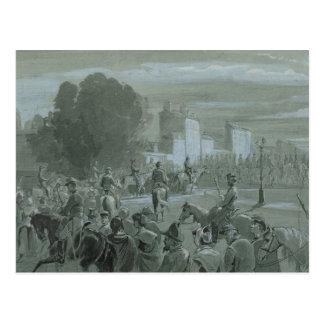 Carte Postale Prisonniers de Communard escortés à Versailles,