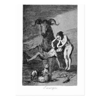 Carte Postale Procès par Francisco Goya