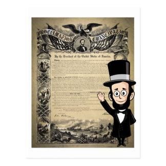 Carte Postale Proclamation et Abe honnête Lincoln d'émancipation