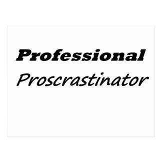 Carte Postale Procrastinator professionnel