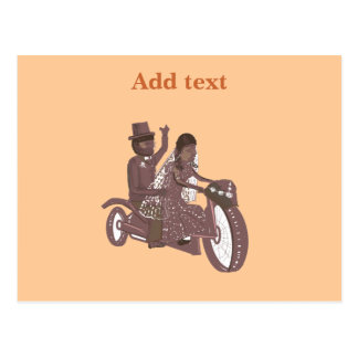 Carte Postale Produits de mariage de cycliste