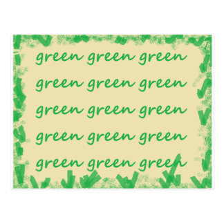 Carte Postale Produits verts