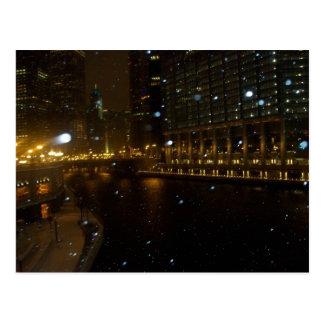 Carte Postale Promenade de la rivière Chicago