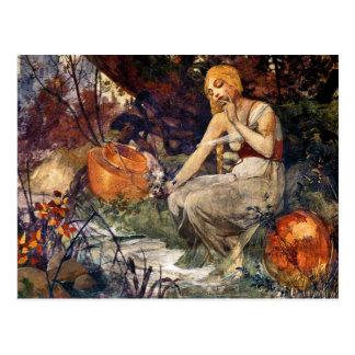 Carte Postale Prophétesse par Alfons Mucha 1896